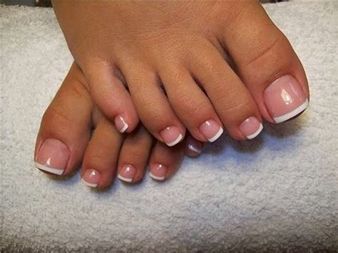 Classic French white gel pedicure | Needy Nails Taupo