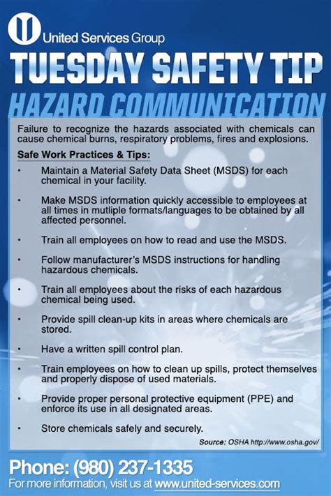 This week's Tuesday Safety Tip is about Hazard