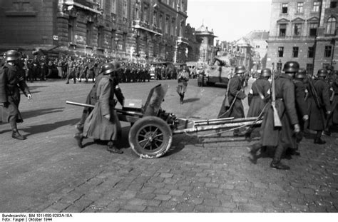 [Photo] German troops in Budapest, Hungary, Oct 1944; note