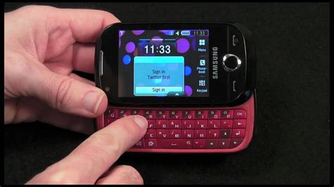 Samsung Genio Slide Mobile Phone Review - YouTube
